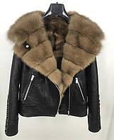 Куртка  с меховым капюшоном из куницы, фото 1