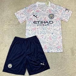 Детская футбольная форма Манчестер Сити выездная 2020-21