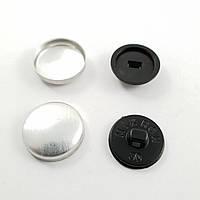 Пуговица под обтяжку на пластиковой ножке №30 - 17,7 мм Черная