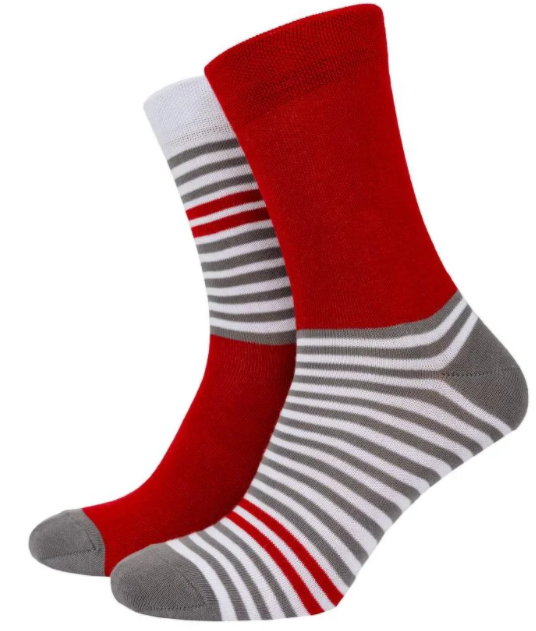 Носки Mushka Gray-red stripe GRS001 36-40