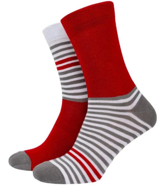 Шкарпетки Mushka Gray-red stripe GRS001 36-40