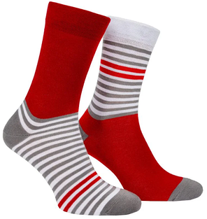 Шкарпетки Mushka Gray-red stripe GRS001 36-40, фото 2