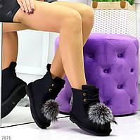 Зимние женские черные валенки на шнурках, натуральный войлок 35 ПОСЛЕДНИЙ РАЗМЕР