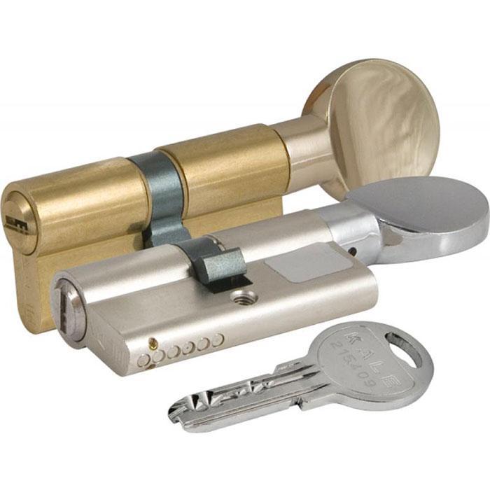 Цилиндр для замка KALE 164 SM 50+10+50: 110 mm с поворотником никель 5 ключей