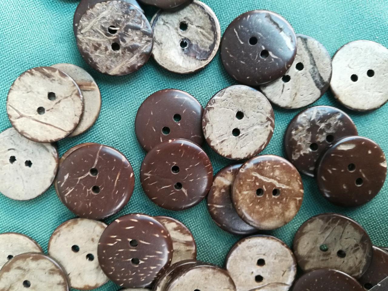 Деревянные пуговицы из кокоса  PG765 №32/20мм (100шт)