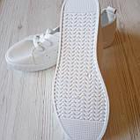 Белые кеды женские білі кеди жіночі, фото 5