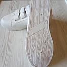 Білі кеди на липучках жіночі білі жіночі кеді, фото 8