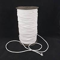 Резинка круглая (шляпная) 2 мм. Белая 100 м.