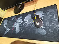 Игровой коврик для компьютерной миши, геймерская поверхность для мишки 80 на 30 карта мира земля