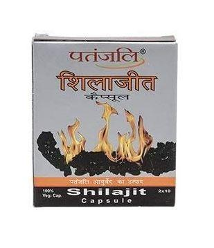 Мумиё Шиладжит Патанжали /Shilajit, Patanjali, 20 капс.-мумие очищенное