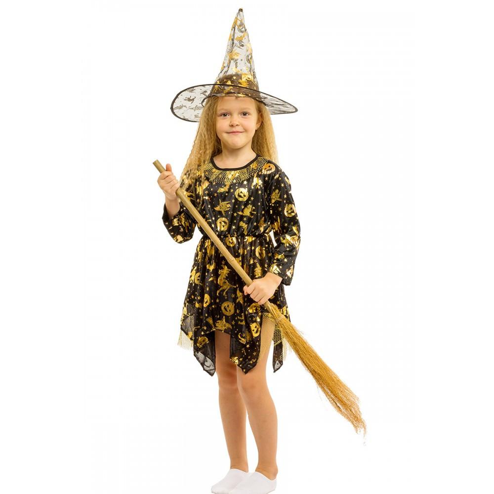 Маскарадный костюм Ведьмочки для девочки.