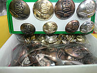 """Пуговица PG519 """"Корона """" металл  (упаковка 240шт), фото 1"""