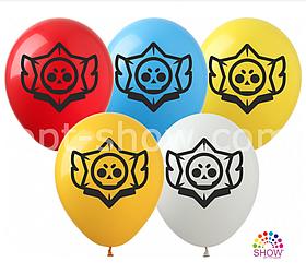 "Латексные шары с рисунком ""Brawl Stars"" 12'' (100 ШТ) ТМ SHOW (30 СМ)"