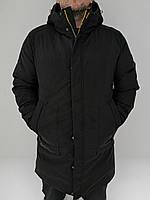 Зимова подовжена куртка REMAIN чорна