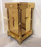 Підставка під ковчег або ливарне блюдо з булатнимі колонами 50*50*90см, фото 2