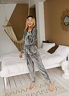 Пижама женская велюровая теплая