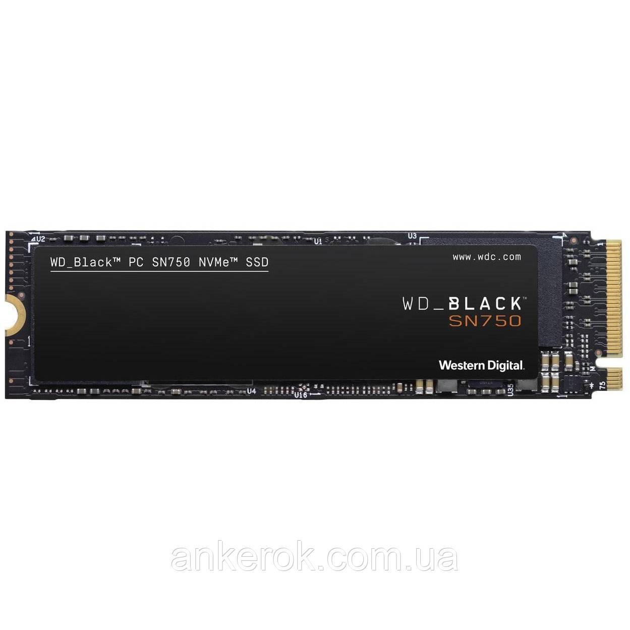 SSD накопичувач WD Black SN750 NVME SSD 500 GB (WDS500G3X0C)