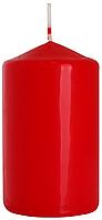 Красная декоративная свеча 10 см. BISPOL
