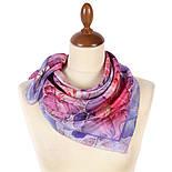 10955-15, павлопосадский шейный платок шелковый (крепдешиновый) с подрубкой, фото 2