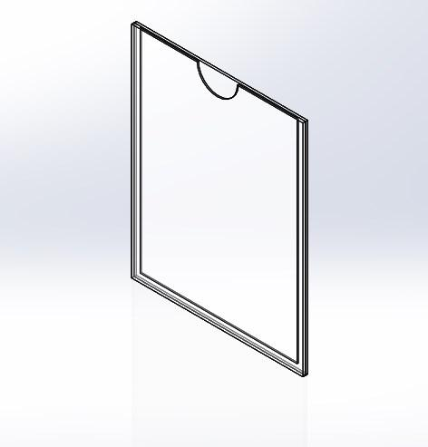 Карман А4 вертикальный с задней стенкой