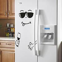 """Интерьерная наклейка на холодильник, цвет черный """"Нямка"""" 03"""