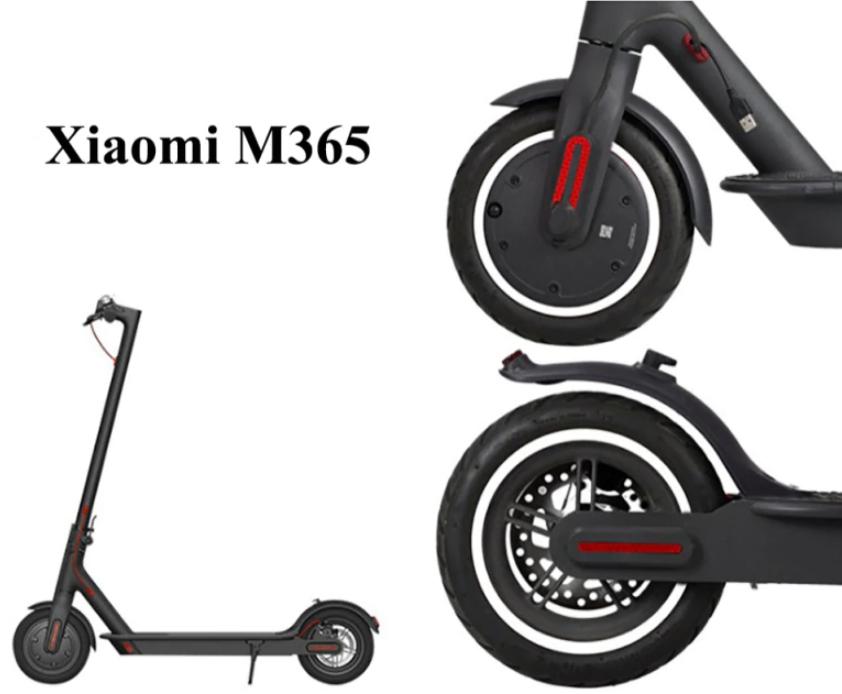 Наклейки на колеса для электросамоката Xiaomi M365/M365 Pro. Белые. Качество!