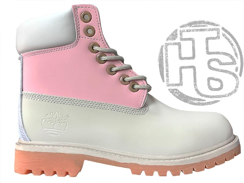 Жіночі черевики Timberland Classic Boots Gray Pink Blue 7W49088