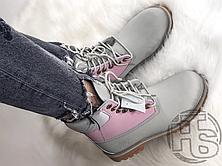 Жіночі черевики Timberland Classic Boots Gray Pink Blue 7W49088, фото 2