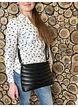 Женская сумка кросс-боди с длинным ремешком через плечо эко-кожа металлик, темное серебро, фото 9