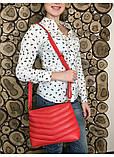 Женская сумка кросс-боди с длинным ремешком через плечо эко-кожа металлик, темное серебро, фото 10