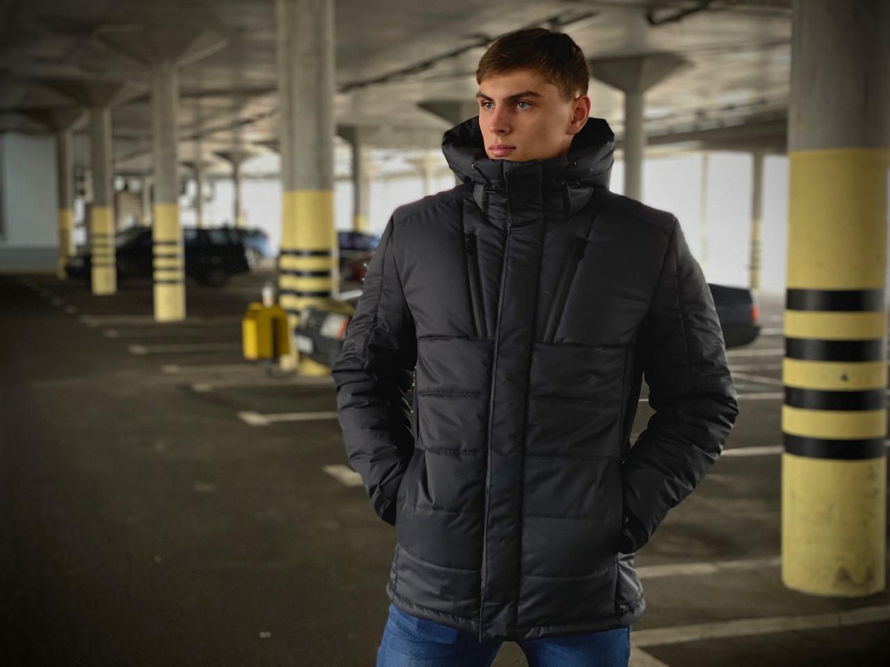 Куртка мужская зимняя серая Intruder Everest