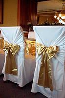 Аренда матовых чехлов на стулья, прокат профессионального банкетного текстиля