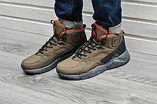 Мужские кроссовки с термоноском Nike Air Huarache High Khaki Orange хаки, фото 3