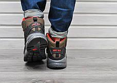 Мужские кроссовки с термоноском Nike Air Huarache High Khaki Orange хаки, фото 2