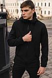 Мужской костюм Softshell черный демисезонный Intruder. Куртка мужская, штаны утепленные + Ключница, фото 2