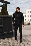Мужской костюм Softshell черный демисезонный Intruder. Куртка мужская, штаны утепленные + Ключница, фото 4