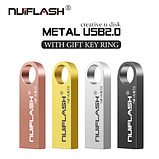 Металлическая USB флешка брелок Nuiflash 64 Gb Флэш накопитель для ноутбука и компьютера, фото 4