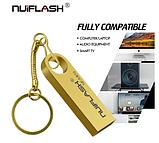 Металлическая USB флешка брелок Nuiflash 64 Gb Флэш накопитель для ноутбука и компьютера, фото 3