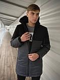 """Демисезонная Куртка """"Fusion"""" бренда Intruder (серая - черная), фото 2"""