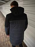 """Демисезонная Куртка """"Fusion"""" бренда Intruder (серая - черная), фото 7"""