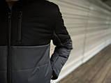 """Демисезонная Куртка """"Fusion"""" бренда Intruder (серая - черная), фото 8"""