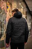 """Демисезонная Куртка """"Temp"""" бренда Intruder (черная), фото 5"""