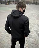 """Мужская весенняя куртка, ветровка черная Intruder """"Sprinter"""", фото 5"""