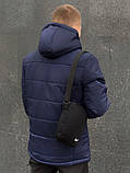 Куртка nike зимняя Евро синяя пуховик мужской найк, фото 2