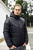 Мужская теплая зимняя черная куртка р. S, M, XL, XXL