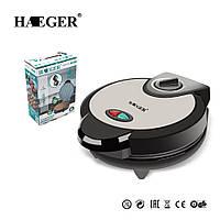 Вафельница HAEGER электрическая для тонких вафель и трубочек, 1200 Ватт, Черная, фото 1