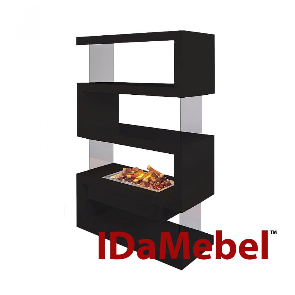 Фронтальный каминокомплект IDamebel Avantgarde L эффект 3D пламени и дыма Opti-Myst с увлажнением