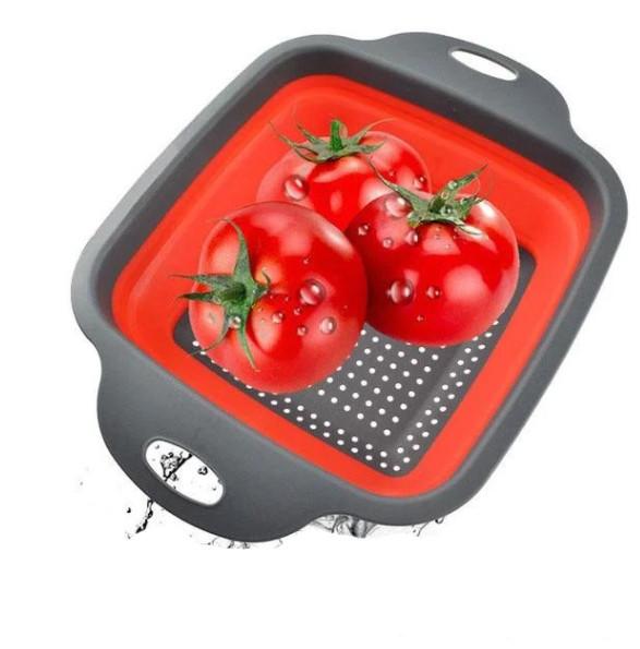 Дуршлаг складной силиконовый для овощей и фруктов Kitchen Craft 093