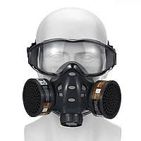 Полнолицевая защитная маска / респиратор с угольными фильтрами 8200