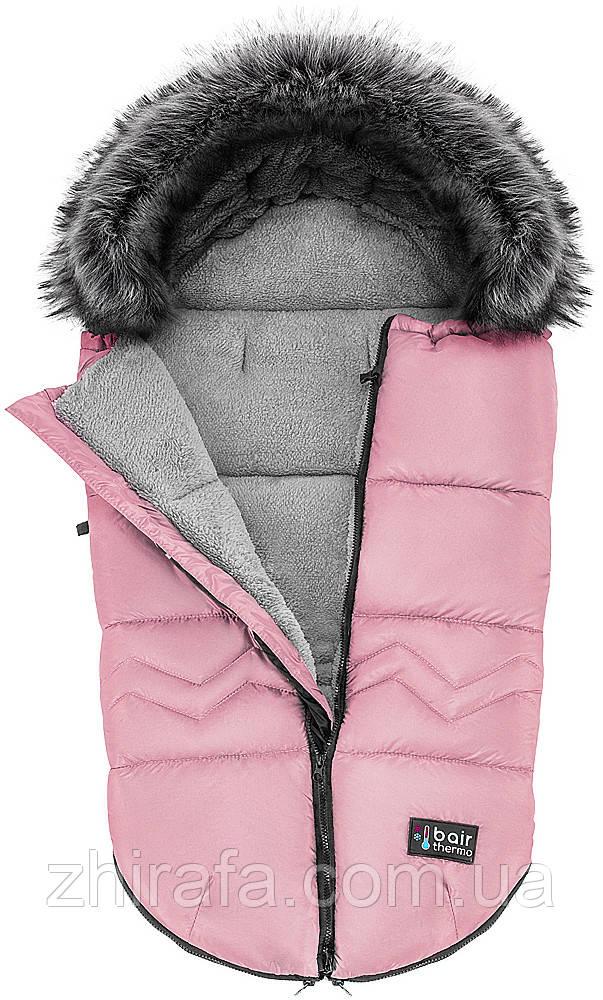 Зимний конверт кокон футмуф чехол в коляску  Bair Alaska Thermo  розовый